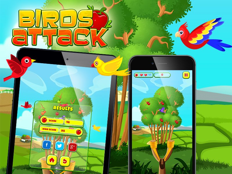 Birds Attack Game Developed by Juego Studios, iPhone Game Development Company in India