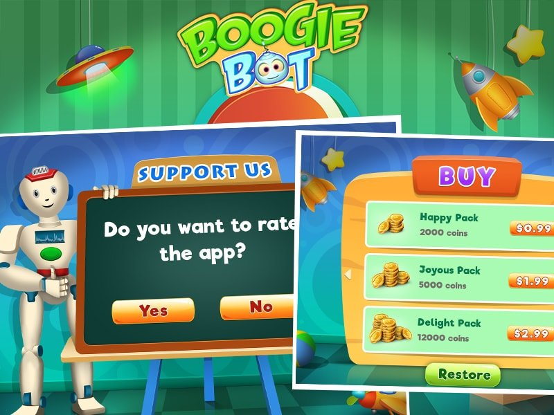Boogie Bot Game - Outsource Game Development by Juego Studios, Top Android Game Developers