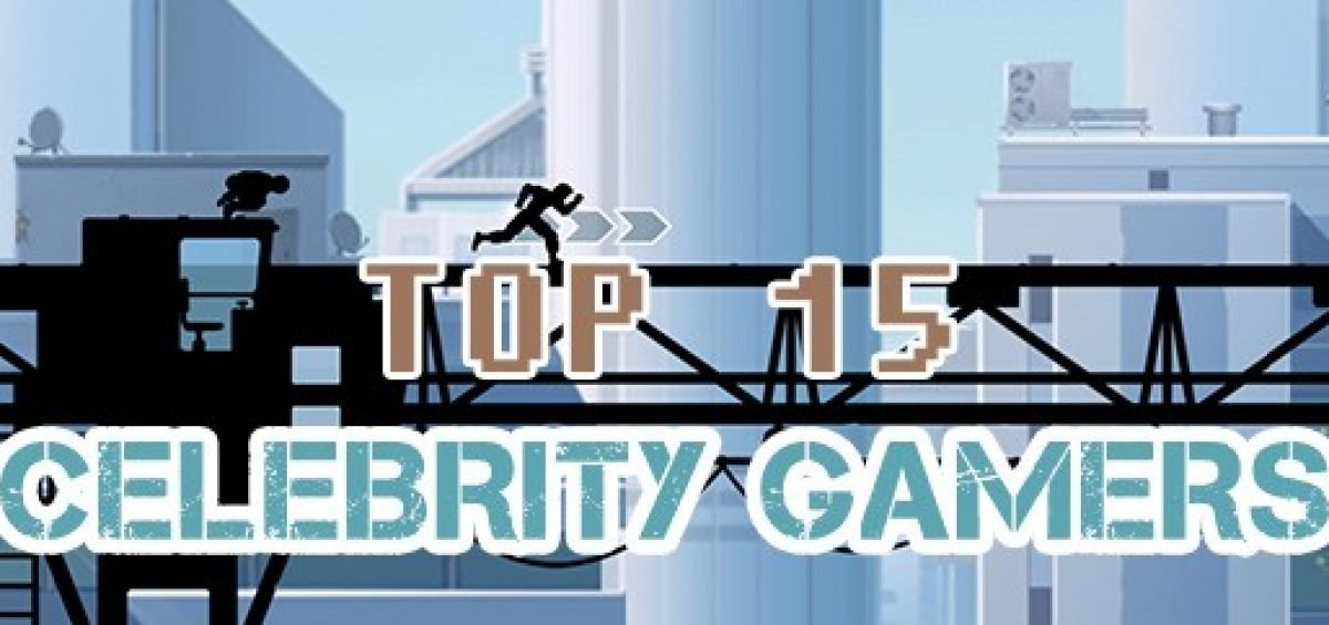 Top 15 Celebrity Gamer's - Infographic