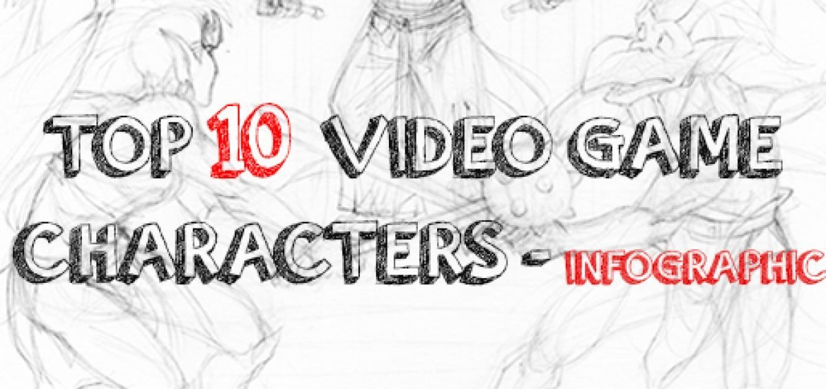 Top 10 Greatest Video Game Characters - Infographic