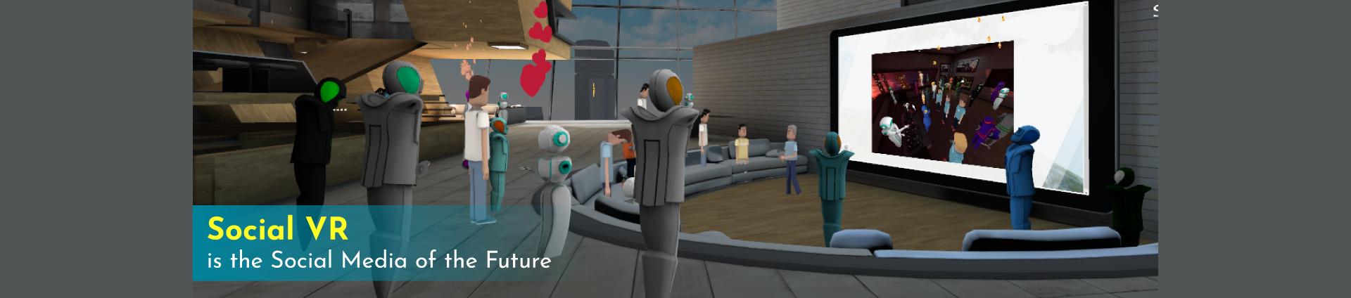 People having fun in Social VR Application