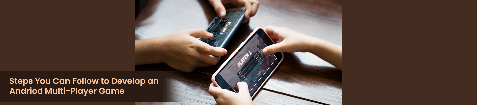 Two People Playing a Multi-Player Game on Two Different Phones